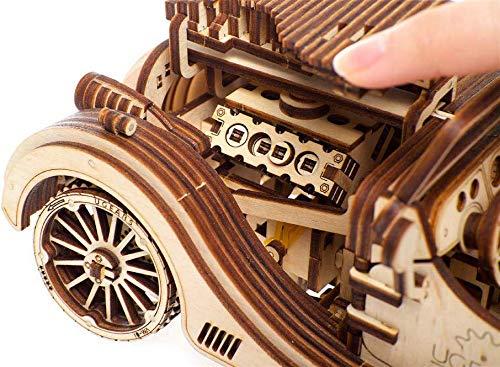 Ugears Vm 01 Roadster Modello Legno 3d Puzzle Modellino Meccanico In Legno Assemblaggio Fai Da Te 0 2