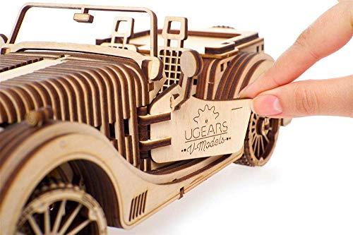 Ugears Vm 01 Roadster Modello Legno 3d Puzzle Modellino Meccanico In Legno Assemblaggio Fai Da Te 0 4