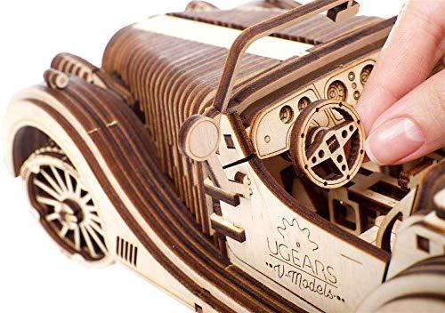 Ugears Vm 01 Roadster Modello Legno 3d Puzzle Modellino Meccanico In Legno Assemblaggio Fai Da Te 0 5