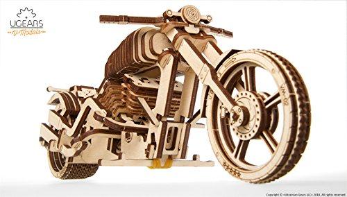 Ugears Vm 02 Motocicletta In Legno Da Costruire Kit Fai Da Te Per Appassionati Di Motori 0 0