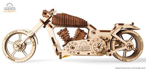 Ugears Vm 02 Motocicletta In Legno Da Costruire Kit Fai Da Te Per Appassionati Di Motori 0 1