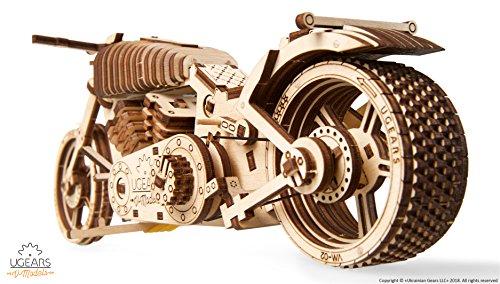 Ugears Vm 02 Motocicletta In Legno Da Costruire Kit Fai Da Te Per Appassionati Di Motori 0 2