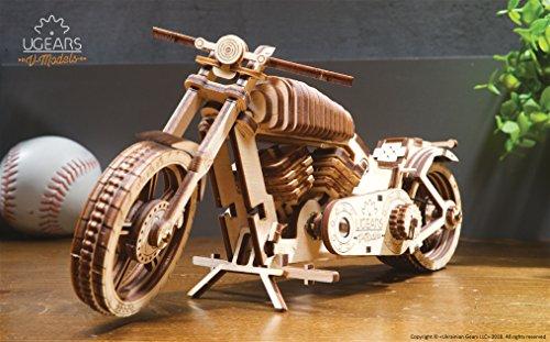 Ugears Vm 02 Motocicletta In Legno Da Costruire Kit Fai Da Te Per Appassionati Di Motori 0 4