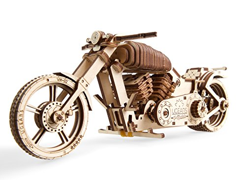 Ugears Vm 02 Motocicletta In Legno Da Costruire Kit Fai Da Te Per Appassionati Di Motori 0