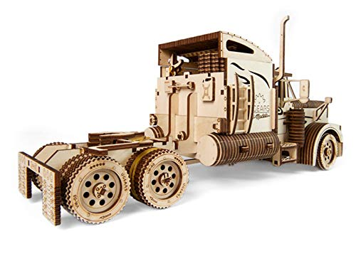 Ugears Vm 03 Camion In Legno Da Montare Modello In Miniature Fai Da Te Con Cabina Per Conducente Ricco Di Dettagli E Funzionante Ecologico Si Assembla Senza Colla Ottima Idea Regalo 0 2