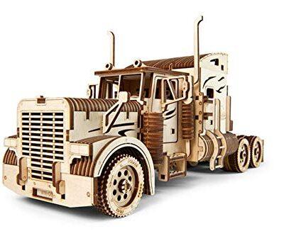 Ugears Vm 03 Camion In Legno Da Montare Modello In Miniature Fai Da Te Con Cabina Per Conducente Ricco Di Dettagli E Funzionante Ecologico Si Assembla Senza Colla Ottima Idea Regalo 0