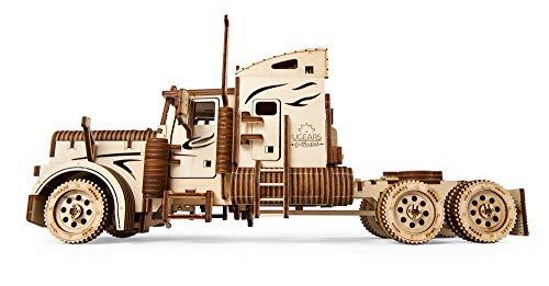 Ugears Vm 03 Camion In Legno Da Montare Modello In Miniature Fai Da Te Con Cabina Per Conducente Ricco Di Dettagli E Funzionante Ecologico Si Assembla Senza Colla Ottima Idea Regalo 0 5