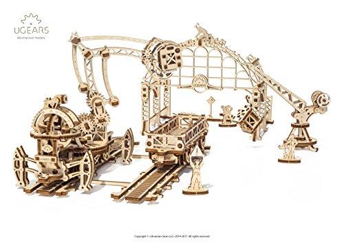 Ugears 3d Puzzle Di Legno Manipolatore Ferroviario Per Bambini E Adulti 0 1