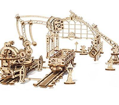 Ugears 3d Puzzle Di Legno Manipolatore Ferroviario Per Bambini E Adulti 0