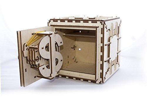 Ugears Cassaforte Da Costruire Con Combinazione Modellino Di Progetti Per Adulti 0 1