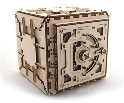 Ugears Cassaforte Da Costruire Con Combinazione Modellino Di Progetti Per Adulti 0