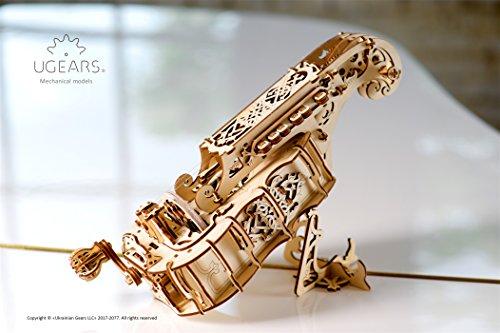 Ugears Ghironda In Legno Strumento Musicale Kit Fai Da Te Da Costruire Per Musica Folk E Moderna Modello Realmente Funzionante Con Manovella E 6 Tasti Adatto A Principianti Idea Regalo Originale 0 2