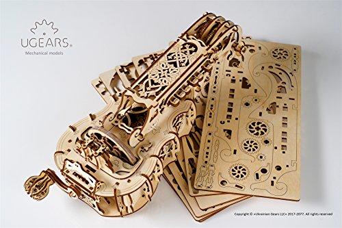 Ugears Ghironda In Legno Strumento Musicale Kit Fai Da Te Da Costruire Per Musica Folk E Moderna Modello Realmente Funzionante Con Manovella E 6 Tasti Adatto A Principianti Idea Regalo Originale 0 4