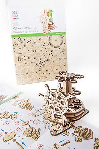 Ugears Wheel Organizer Puzzle 3d Per Adulti Portapenne In Legno Ecologico Modello Meccanico Puzzle Di Legno Rompicapo In Legno Per Adulti Giocattolo Educativi Per Bambini 0 0