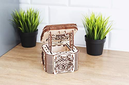 Woodencity Modello In Legno Scrigno Misterioso Puzzle 3d Meccanico Mystery Box By Modellino Di Progetti Per Adulti E Bambini 3d Modello Tecnico In Legno 0 2