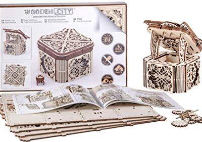 Woodencity Modello In Legno Scrigno Misterioso Puzzle 3d Meccanico Mystery Box By Modellino Di Progetti Per Adulti E Bambini 3d Modello Tecnico In Legno 0