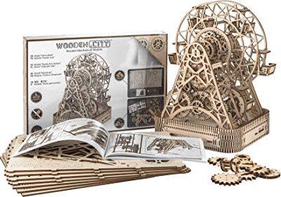 Woodencity Puzzle 3d Meccanico Ruota Panoramica Ferris Fheel By Modellino Di Progetti Per Adulti E Bambini 3d Modello Tecnico In Legnoeel 0