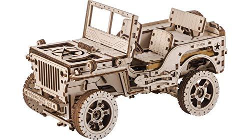 Wooden City Auto 4x4 3d Puzzle Modello Meccanico Di Legno 109 X 59 X 24 Bianco 0 0