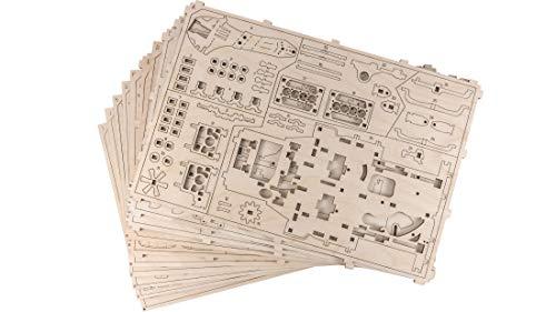 Wooden City Auto 4x4 3d Puzzle Modello Meccanico Di Legno 109 X 59 X 24 Bianco 0 1