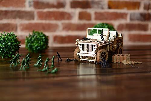 Wooden City Auto 4x4 3d Puzzle Modello Meccanico Di Legno 109 X 59 X 24 Bianco 0 2