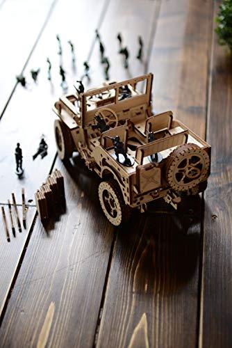 Wooden City Auto 4x4 3d Puzzle Modello Meccanico Di Legno 109 X 59 X 24 Bianco 0 3