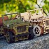 Wooden City Auto 4x4 3d Puzzle Modello Meccanico Di Legno 109 X 59 X 24 Bianco 0 5