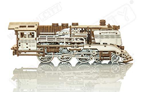 Wooden City Puzzle In Legno 3d In Legno Express Binari Del Treno 0 1