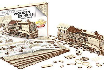 Wooden City Puzzle In Legno 3d In Legno Express Binari Del Treno 0