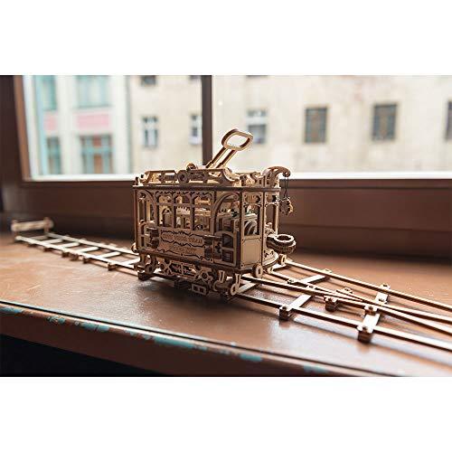 Wooden City Wr320 Puzzle Di Legno Puzzle 3d Tram Della Citt Con Le Rotaie 256 Pezzi 0 3