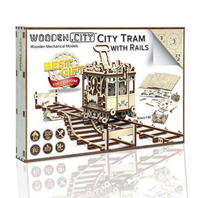 Wooden City Wr320 Puzzle Di Legno Puzzle 3d Tram Della Citt Con Le Rotaie 256 Pezzi 0