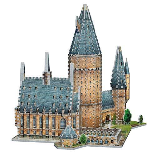 Wrebbit 3d Harry Potter Puzzle 3d Diorama Castello Di Hogwarts Great Hall Sala Grande 850 Pezzi 0 3