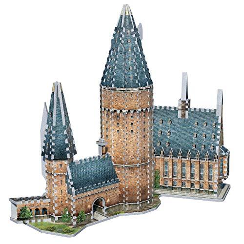 Wrebbit 3d Harry Potter Puzzle 3d Diorama Castello Di Hogwarts Great Hall Sala Grande 850 Pezzi 0 4