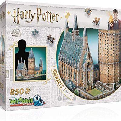 Wrebbit 3d Harry Potter Puzzle 3d Diorama Castello Di Hogwarts Great Hall Sala Grande 850 Pezzi 0