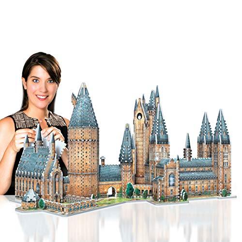 Wrebbit 3d Harry Potter Puzzle 3d Diorama Castello Di Hogwarts Great Hall Sala Grande 850 Pezzi 0 5