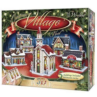 Wrebbit 3d Puzzle Christmas Village Puzzle Collection 116 Pezzi Grandi 0