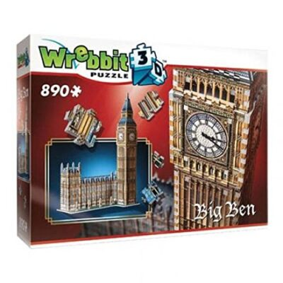 Wrebbit W3d 2002 Puzzle 3d Big Ben 890 Pezzi 0
