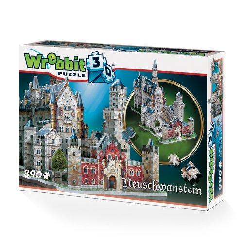 Wrebbit W3d 2005 Puzzle 3d Neuschwanstein Castle 890 Pezzi 0 5