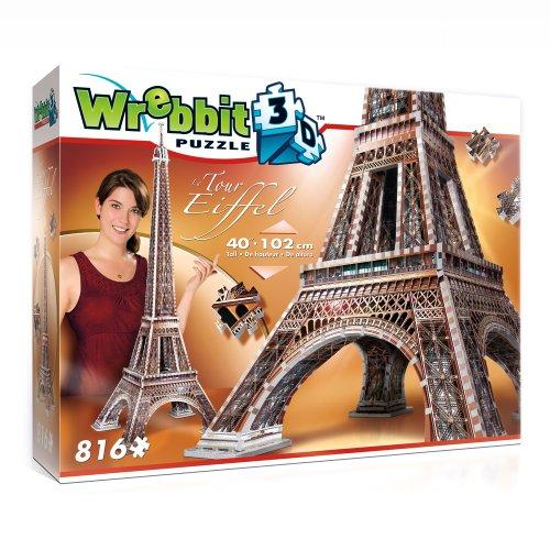 Wrebbit W3d 2009 Puzzle 3d Eiffel Tower 816 Pezzi 0 0