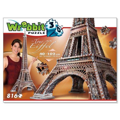 Wrebbit W3d 2009 Puzzle 3d Eiffel Tower 816 Pezzi 0 3