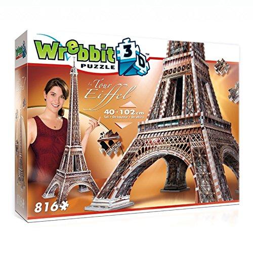 Wrebbit W3d 2009 Puzzle 3d Eiffel Tower 816 Pezzi 0