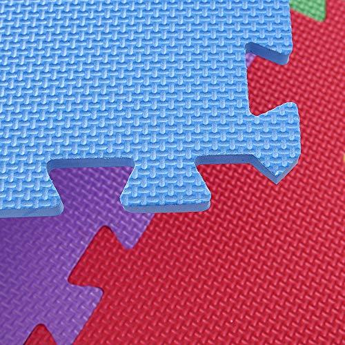 Bakaji Tappeto Puzzle Colorato In Morbida Gomma Eva Resistente Isolante Lavabile Tappetino Da Gioco Per Bambini 10 Pz Animali 0 4