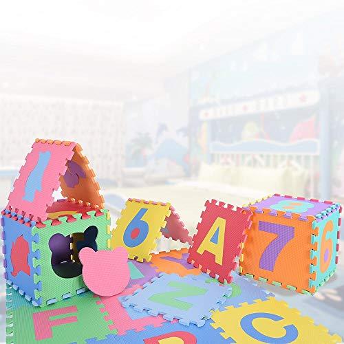 Bakaji Tappeto Puzzle Colorato In Morbida Gomma Eva Resistente Isolante Lavabile Tappetino Da Gioco Per Bambini 10 Pz Animali 0 5