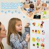 Cooljoy Puzzle Magnetico Legno Giocattolo Di Legno Bambini Regalo Con Lavagna Double Face Apprendimento Educativo Puzzle Magnetica Lavagna Legno 100 Pezzi Puo Attaccare Sul Frigorifero 0 2