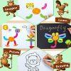 Cooljoy Puzzle Magnetico Legno Giocattolo Di Legno Bambini Con Double Face Disegno Cavalletto Lavagna Apprendimento Educativo Per Bambini Modello Numerico 0 3