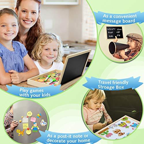 Cooljoy Puzzle Magnetico Legno Giocattolo Di Legno Con Lavagna Double Face Apprendimento Educativo Puzzle Bambini 3 Anni 4 Anni 5 Anni Quasi 100 Pezzi Puo Attaccare Sul Frigorifero Fattoria 0 2