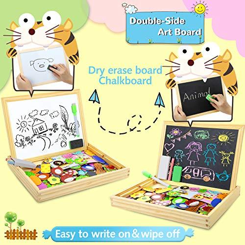 Cooljoy Puzzle Magnetico Legno Giocattolo Di Legno Con Lavagna Double Face Graffiti Educativo Regalo Per Bambini 3 Anni Su Quasi 100 Parti Colorate Animale 0 1