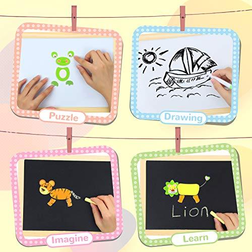 Cooljoy Puzzle Magnetico Legno Giocattolo Di Legno Con Lavagna Double Face Graffiti Educativo Regalo Per Bambini 3 Anni Su Quasi 100 Parti Colorate Animale 0 3