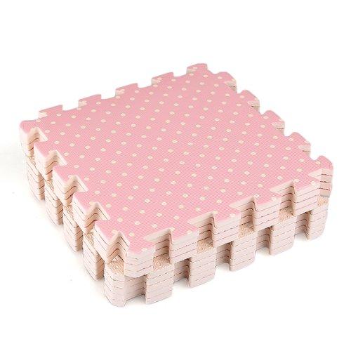 Compre Show 9x Tappeti Tappeto Puzzle Puntini Bois Eva 30x30x1cm Idea Regalo Bambini 0 0