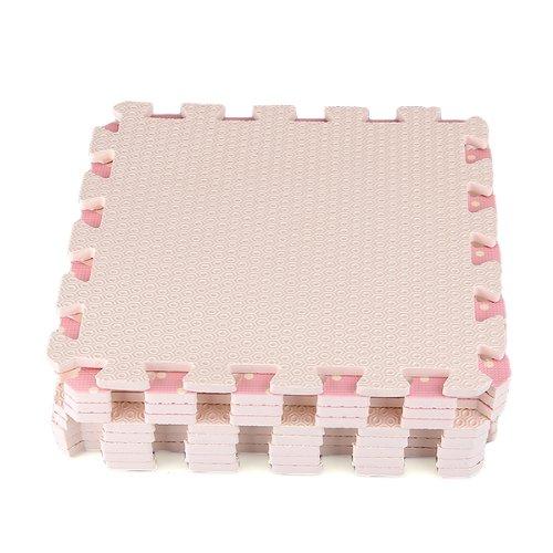 Compre Show 9x Tappeti Tappeto Puzzle Puntini Bois Eva 30x30x1cm Idea Regalo Bambini 0 1