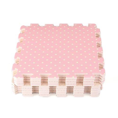 Compre Show 9x Tappeti Tappeto Puzzle Puntini Bois Eva 30x30x1cm Idea Regalo Bambini 0 3